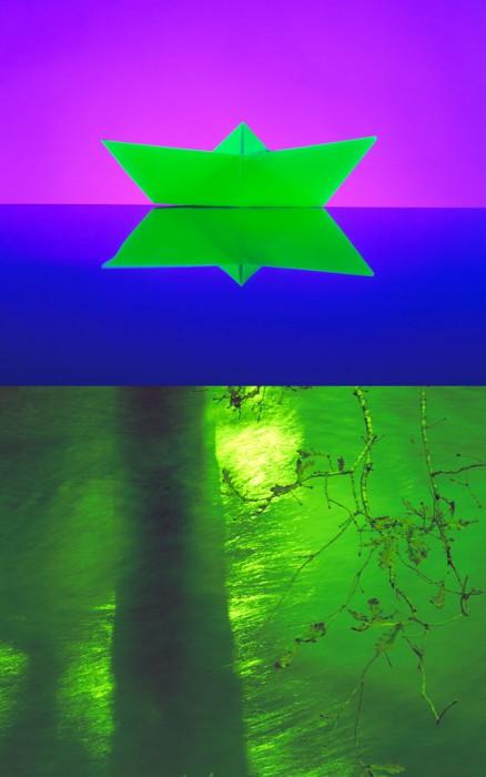 Barco, Agua. 120x80 cm.