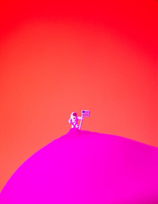 El astronauta. 60x50 cm